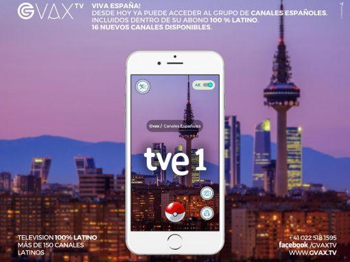 Los canales de España en GVAX.TV